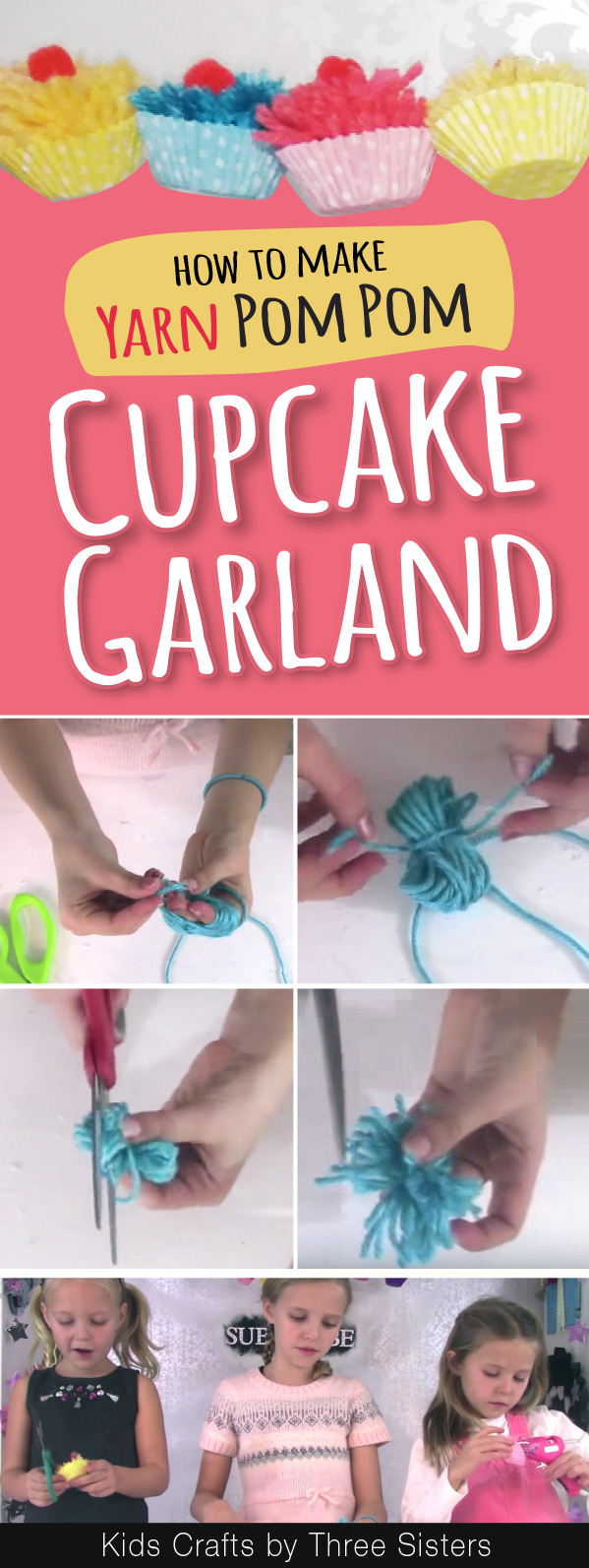 how-make-yarn-pom-poms-hands-kids-crafts