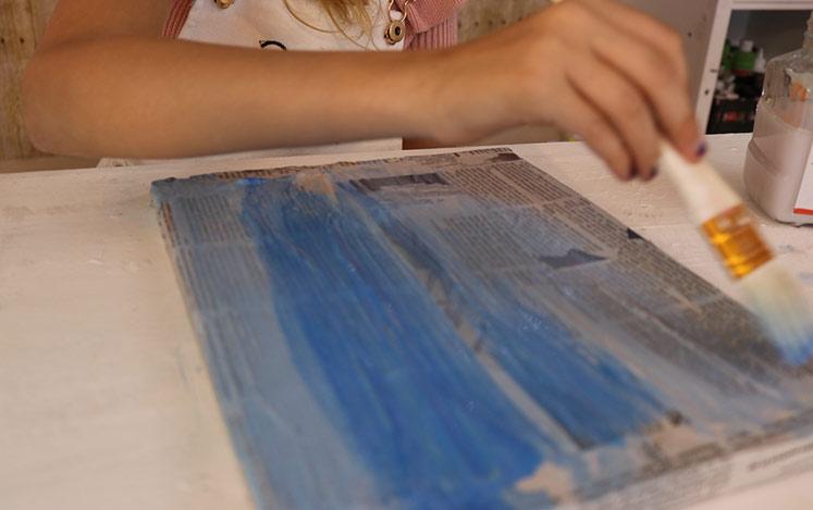 paint-background-blue-newspaper-art