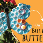 Plastic Bottle Cap Butterfly Art