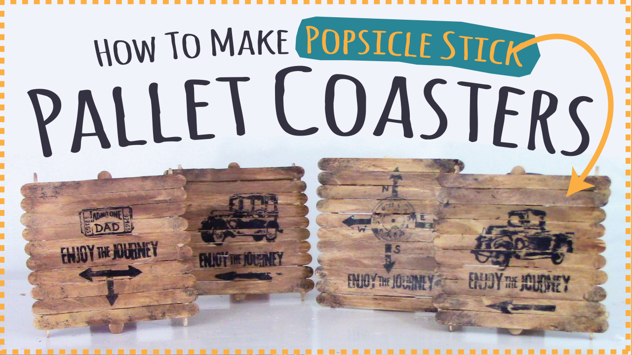 Kids-Crafts-by-Three-Sisters - Popsicle-stick-pallet-coasters-fathers-day-gift