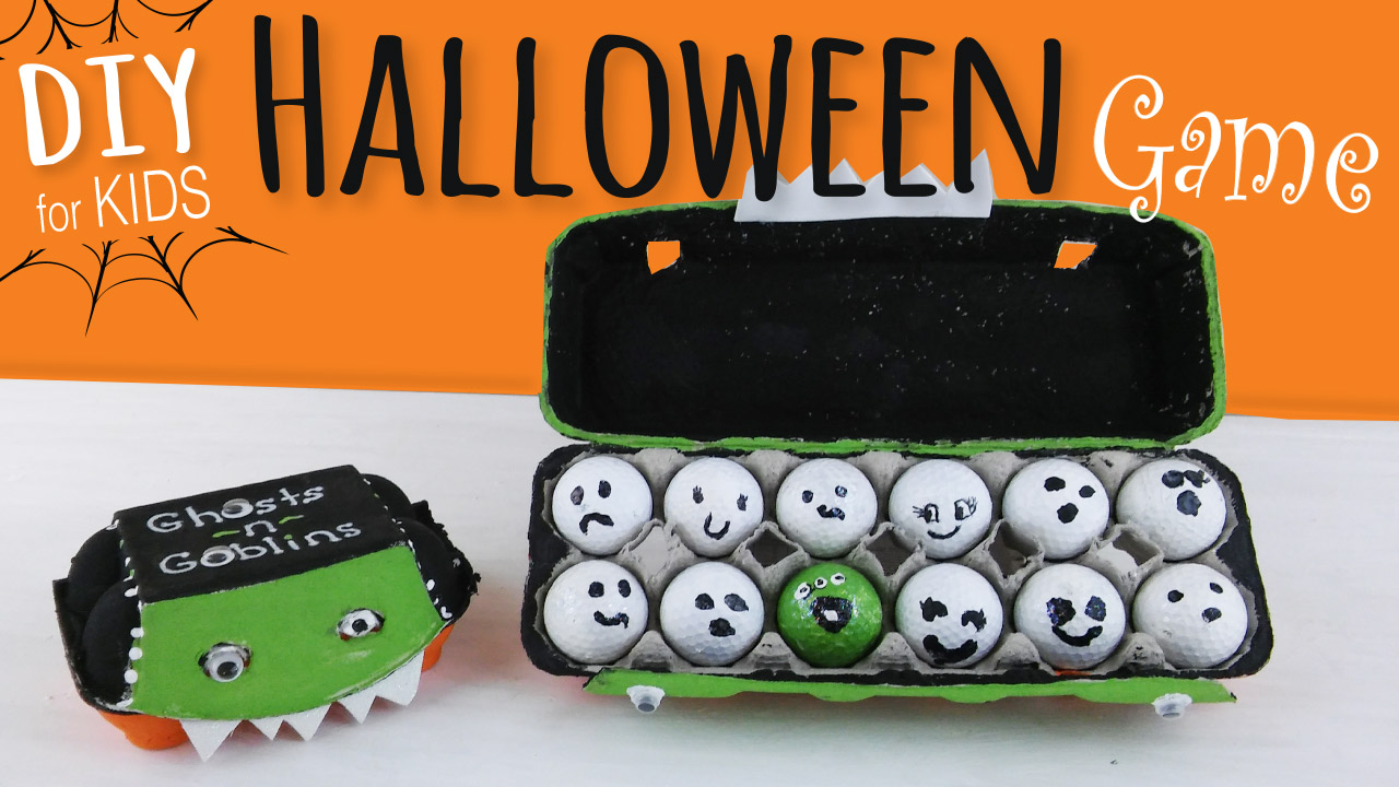 Ghosts Goblins Halloween Game For Kids Egg Carton Craftkids