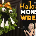 How to Make a Pine Cone Monster Halloween Wreath