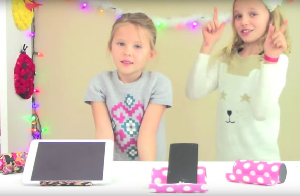 kids-crafts-three-sisters-diy-phone-holder