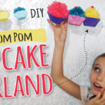 Yarn Pom Pom Cupcake Craft