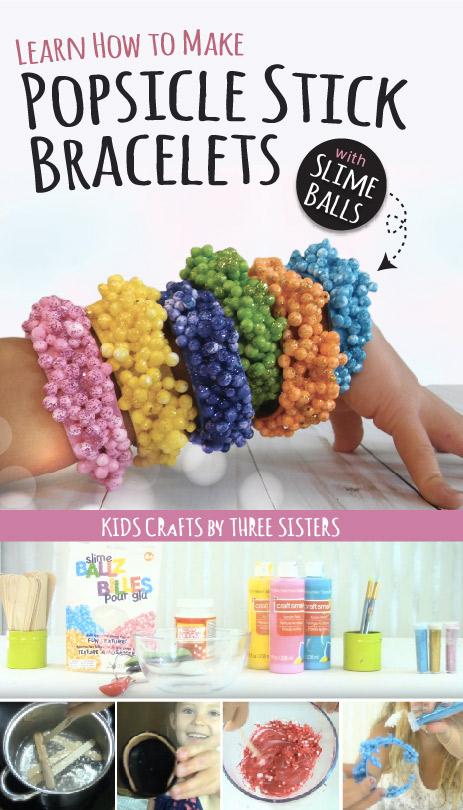 how-to-make-slime-ball-popsicle-stick-bracelets-glitter-kids-crafts