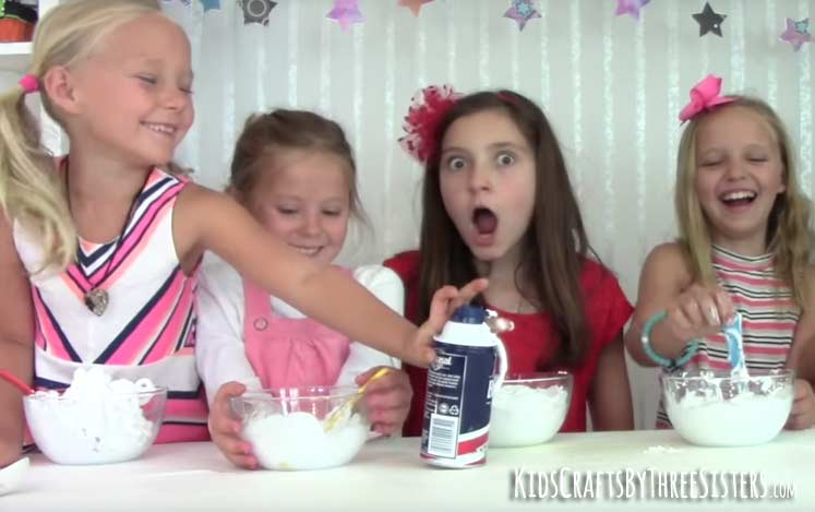 how-make-fluffy-slime-add-shaving-cream
