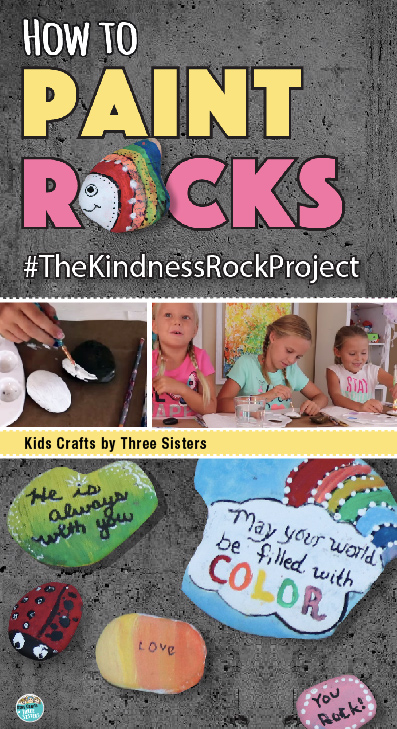 kindness rocks project How to Paint Rocks