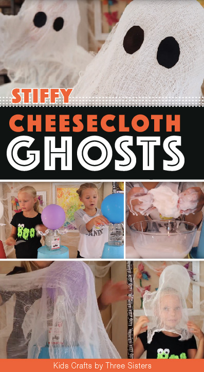 cheesecloth ghosts easy halloween craft
