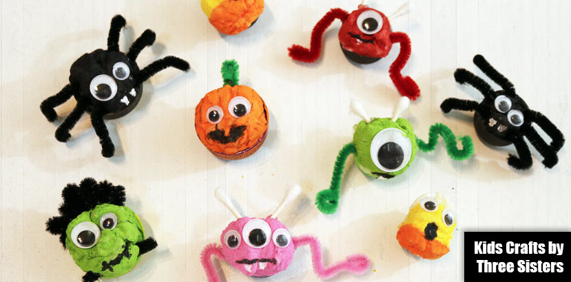 These Easy Halloween Crafts Kids Can Make Include Cotton Ball