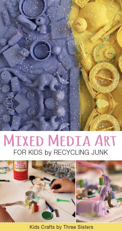 mixed-media-art-recycling-junk-three-sisters