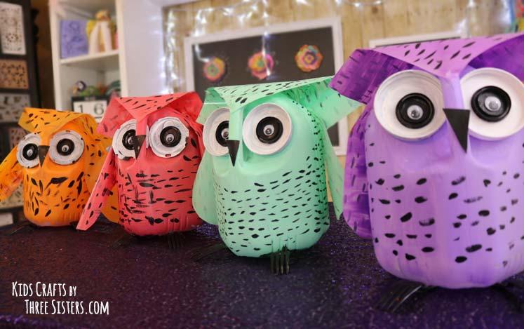 owl-milk-jug-craft-earth-day-craft