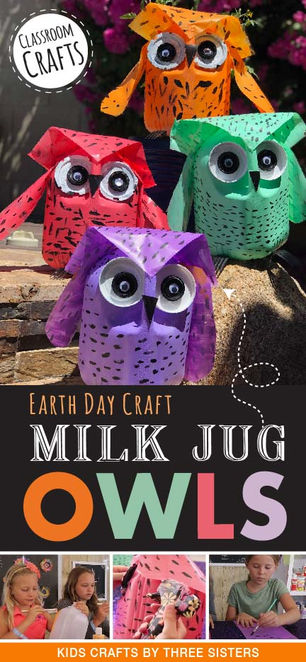 owl-milk-jug-craft-earth-day-school-project