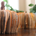 Fall Pumpkin Craft Centerpiece Made From Books